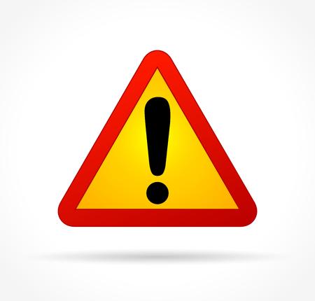 Illustration of warning sign on white background