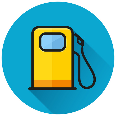 Illustration of fuel pump circle icon concept
