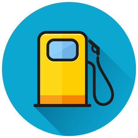 Ilustración del concepto de icono de círculo de bomba de combustible Ilustración de vector