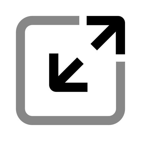 Illustration of extend icon on white background