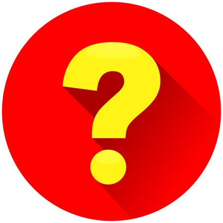 Illustration des roten Kreissymbols des Fragezeichens