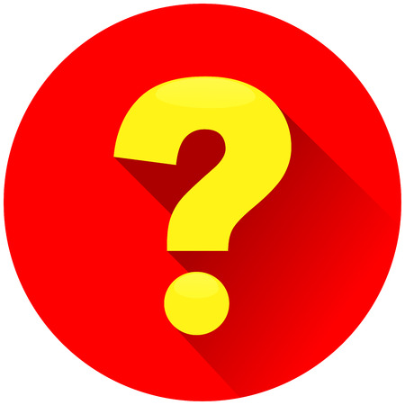 Illustration of question mark red circle icon