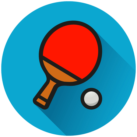 Illustration of table tennis circle icon concept