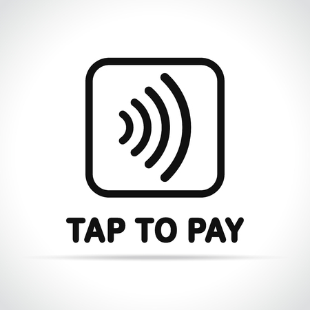 Illustration of contactless payment icon on white background 일러스트