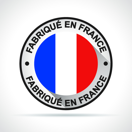 Illustration of made in france icon french translation