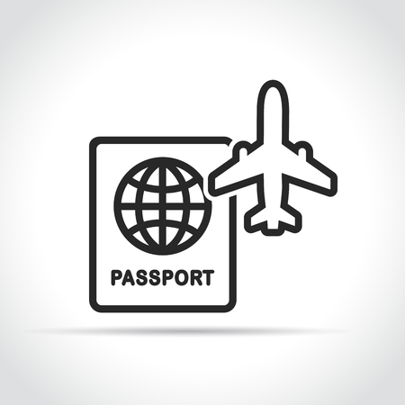 Illustration of travel and plane icon concept