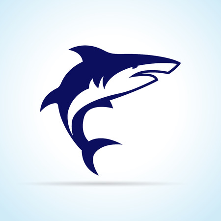 Illustration of shark design on white background