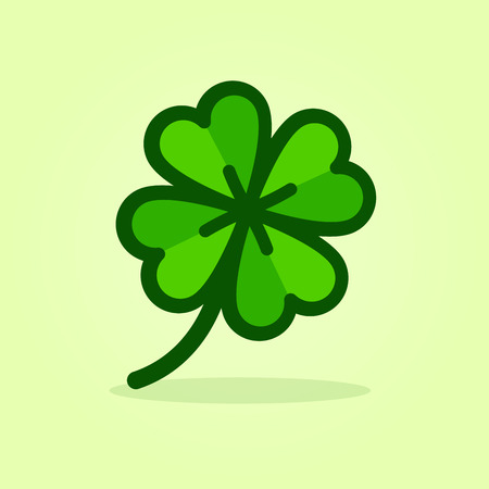 Illustration of four leaf clover icon design
