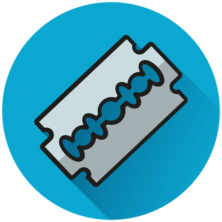 Illustration of razor blade circle blue icon Illustration
