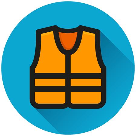Illustration of life jacket circle blue icon Vektorgrafik