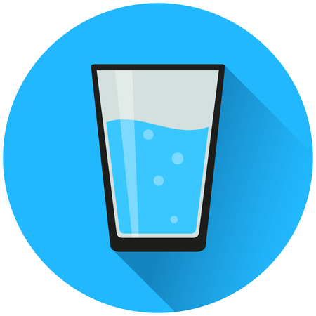 Illustration of water glass circle blue icon  イラスト・ベクター素材