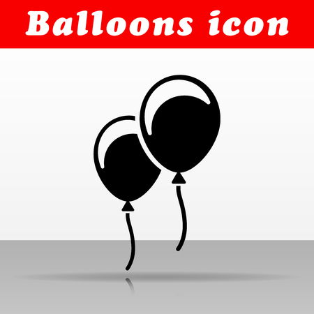 Illustration of black balloons vector icon design