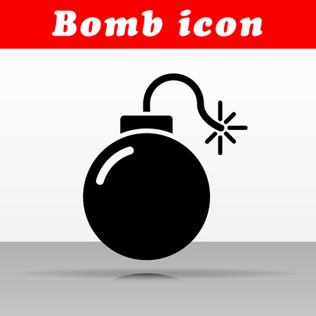 Illustration of black bomb vector icon design