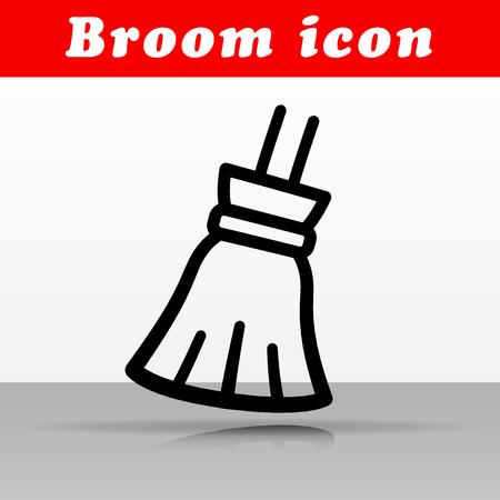 Illustration of black broom vector icon design