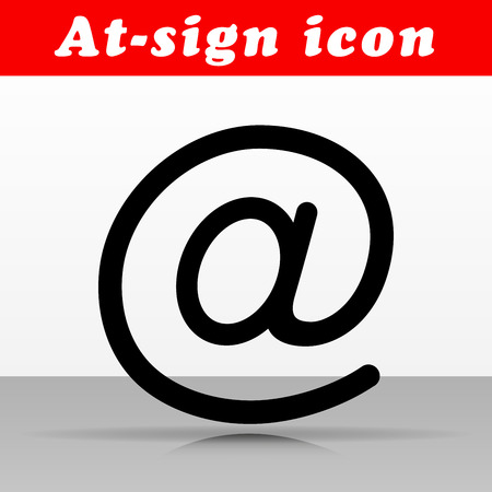 Illustration of at sign vector icon design