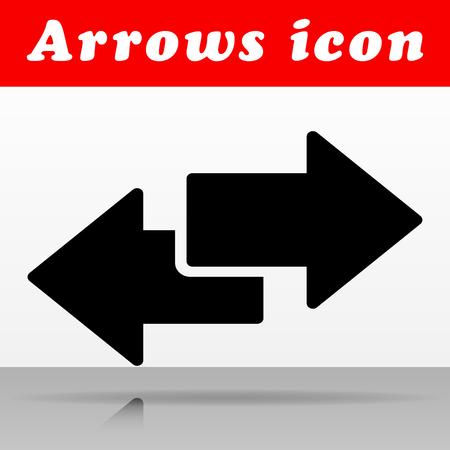 Illustration of black arrows vector icon design Illustration