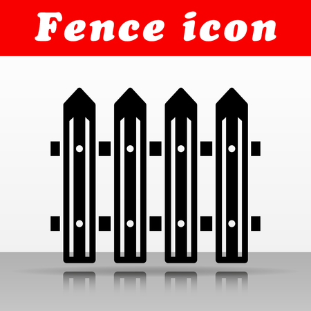 Illustration of black fence vector icon design