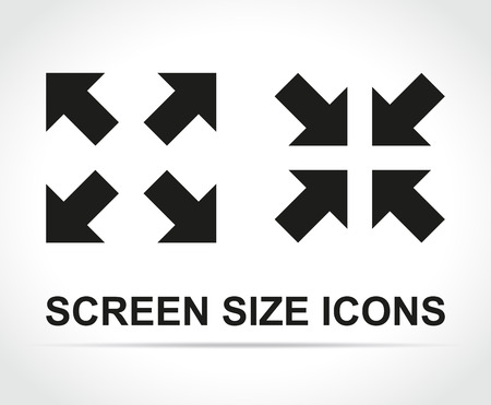 Illustration of screen size icons on white background