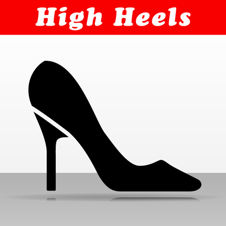 Illustration of high heels vector icon design Illustration