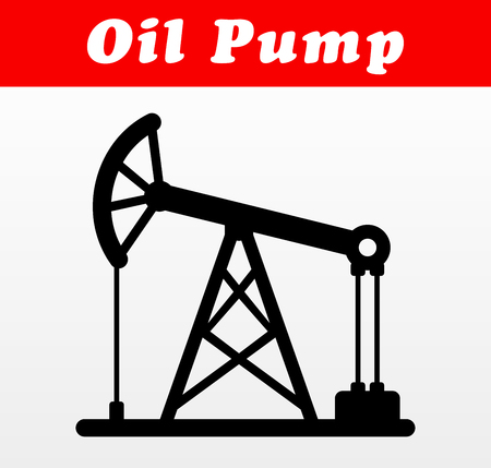 Illustration of oil pump vector icon design