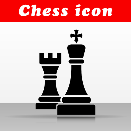Illustration of black chess vector icon design