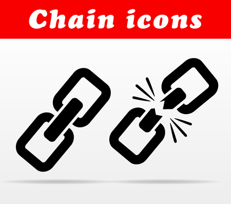 Illustration of black chain vector icons design