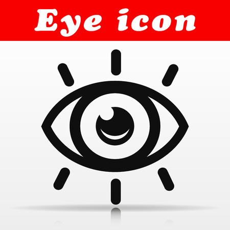 Illustration of black eye vector icon design