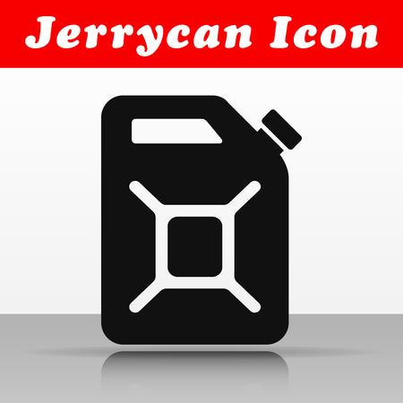 Illustration of black jerrycan vector icon design
