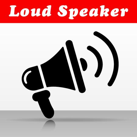 Illustration of loud speaker vector icon design