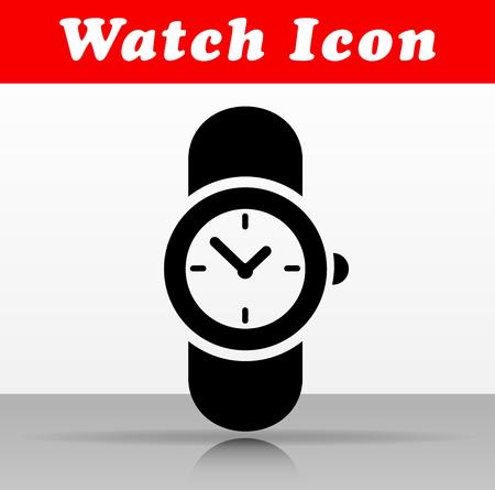Illustration of black watch vector icon design Иллюстрация