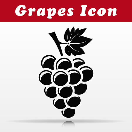 Illustration of black grapes vector icon design Ilustração