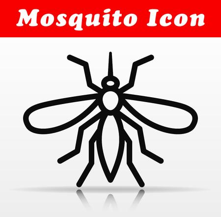Illustration of line mosquito vector icon design