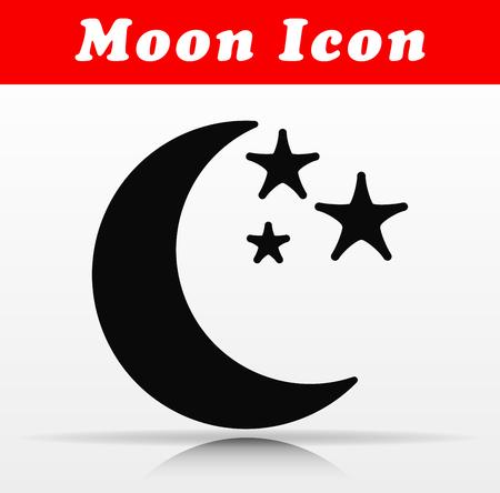 Illustration of black moon vector icon design