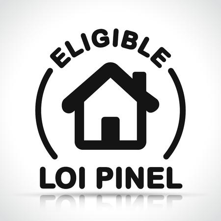 Illustration of french pinel law icon design 일러스트