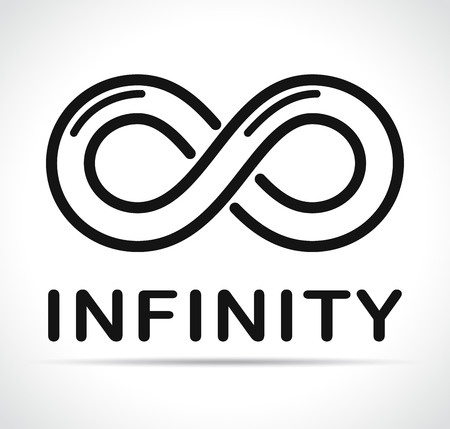 Illustration of infinity icon on white background 向量圖像