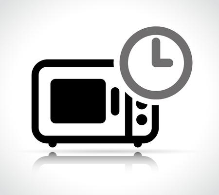Illustration of preparation time concept icon design