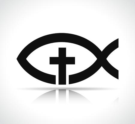Illustration of jesus fish on white background Illustration