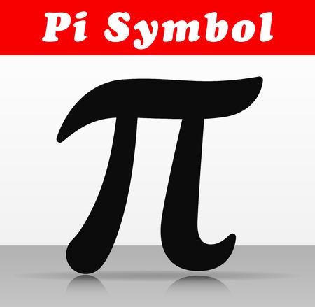 Illustration of pi number symbol vector design