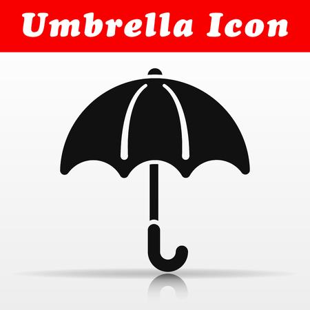 Illustration of black umbrella vector icon design