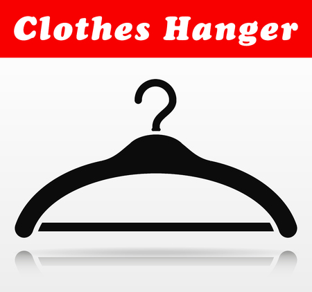 Illustration of clothes hanger vector icon design Ilustracja