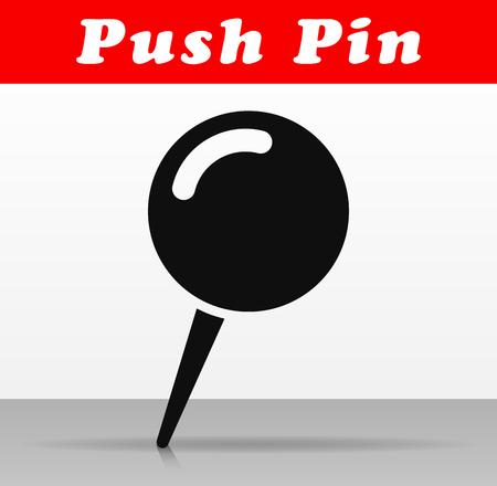 Illustration of push pin vector icon design