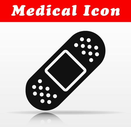Illustration of first aid vector icon design