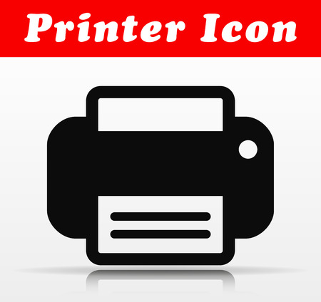 Illustration of black printer vector icon design Illustration