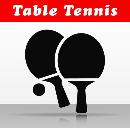 Illustration of table tennis vector icon design Vectores