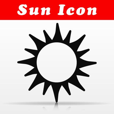 Illustration of black sun vector icon design