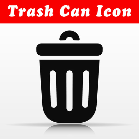 Illustration of trash can vector icon design Illustration