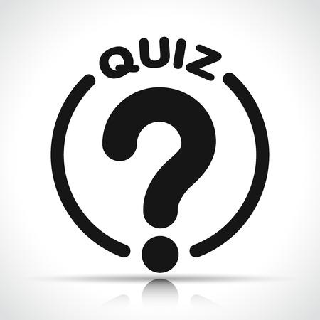 Illustration of quiz icon on white background