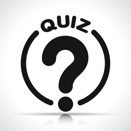 Illustration of quiz icon on white background