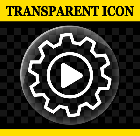Illustration of transparent automation vector circle icon