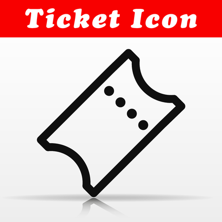 Illustration of line ticket vector icon design